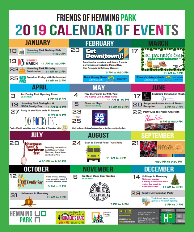Free Comic Book Day 2019 List: 2019 Annual Calendar Of Events For Hemming Park