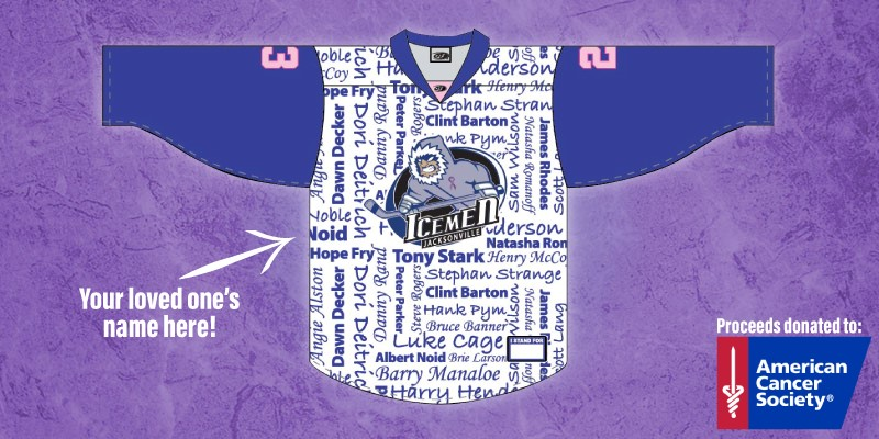 on sale 4c1f5 4d9f3 Icemen Announce Hockey Fights Cancer Weekend
