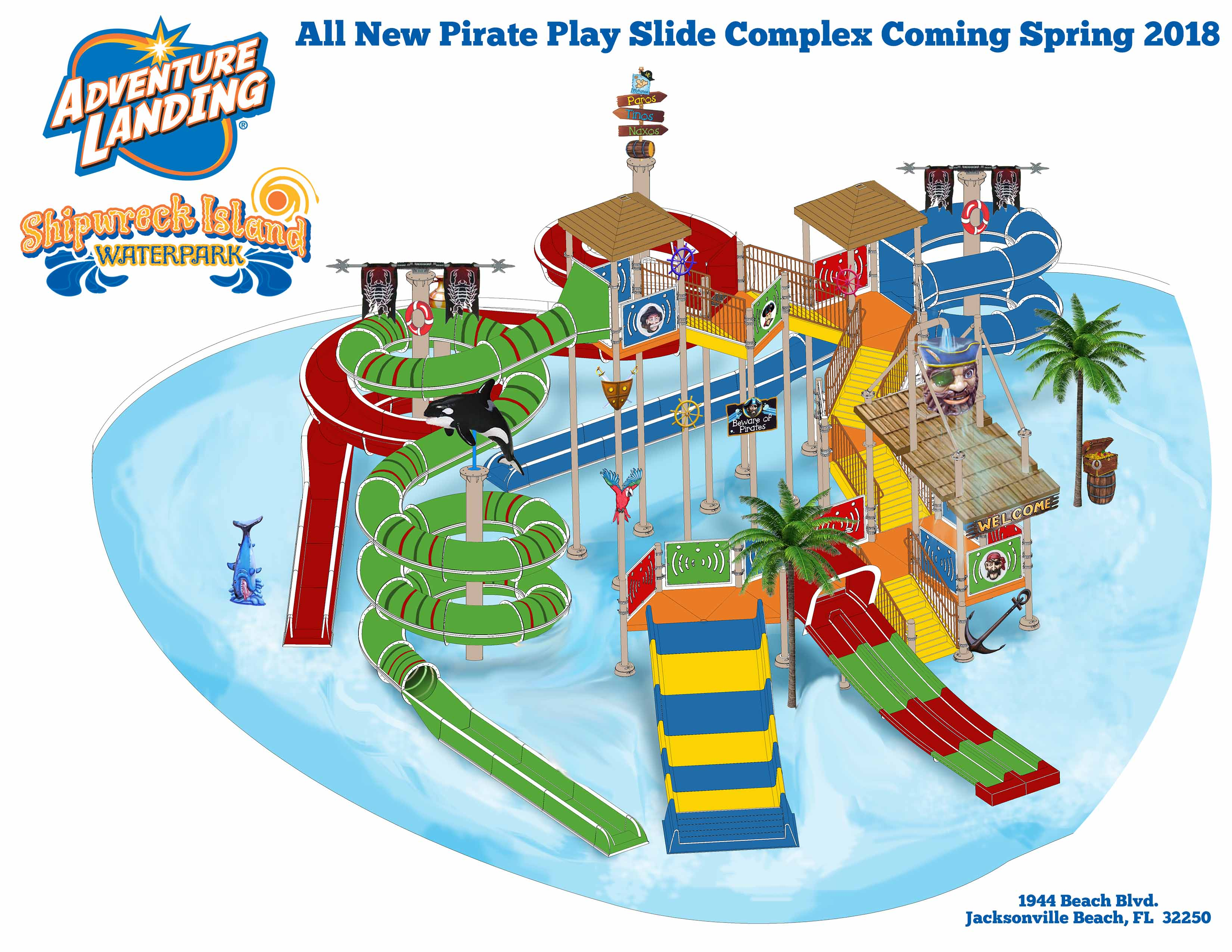 Go Karts Jacksonville Fl >> Build Out of New $1 Million Interactive Pirate Play Slide Complex at Adventure Landing Opening ...